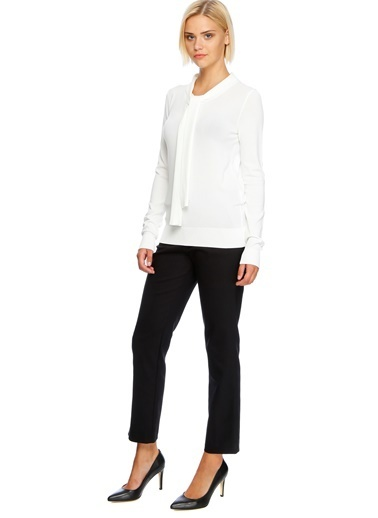 Beymen Studio Triko Bluz Beyaz